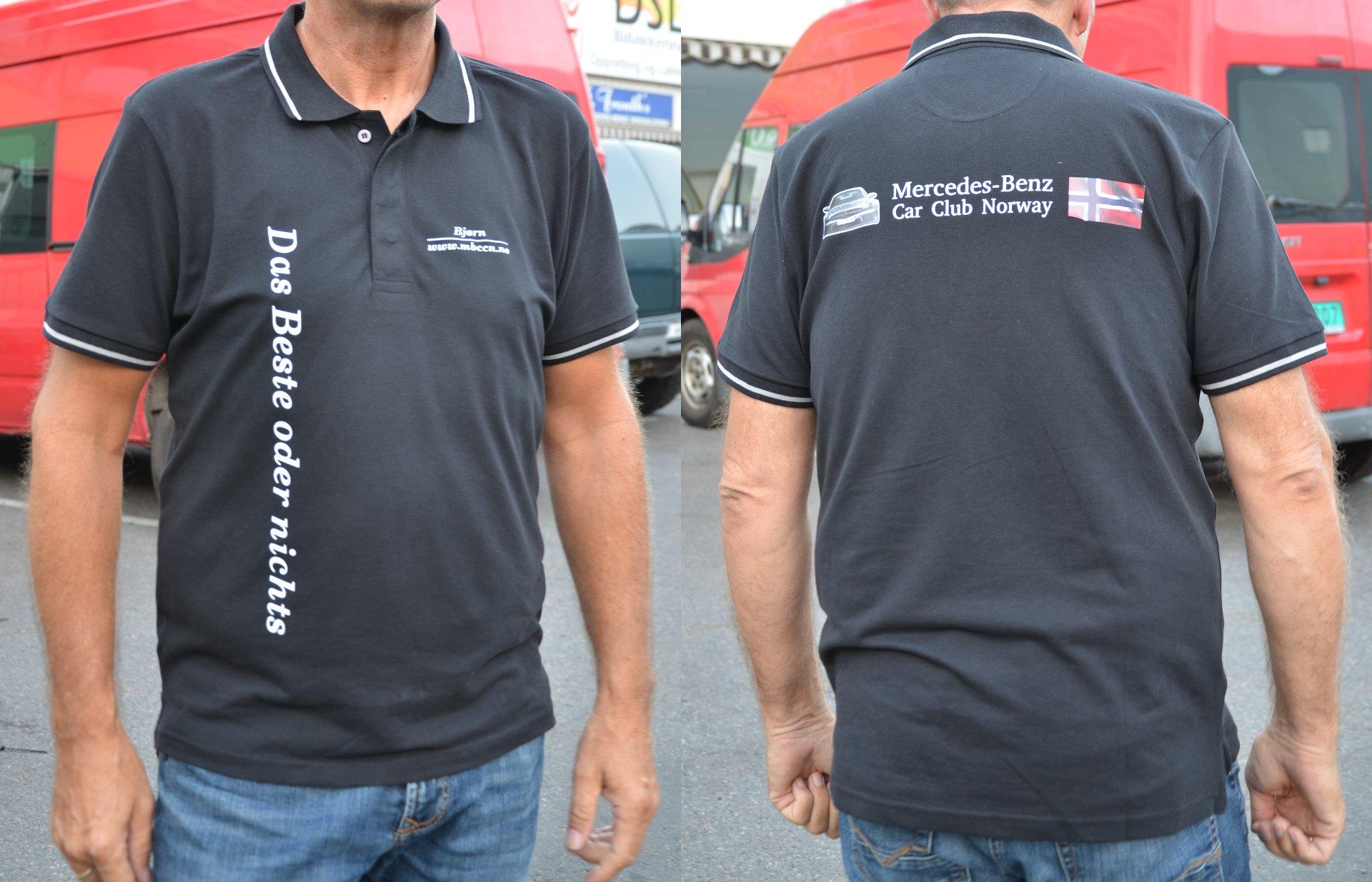 Piquet skjorte ♀ og ♂ – Mercedes Benz Car Club Norway